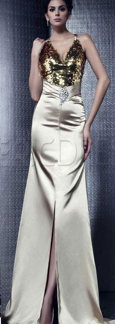 Luxurious Mermaid V-neck Floor-length Taline's Evening Dress, #specialoccasiondresses