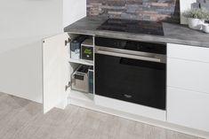 Kuchyňa ESTER vo vyhotovení biela arctic vysoký lesk Wall Oven, Kitchen Appliances, Home, Diy Kitchen Appliances, Home Appliances, Ad Home, Homes, Kitchen Gadgets, Haus