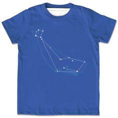 Whale Cetus shirt for kids by Little Lark