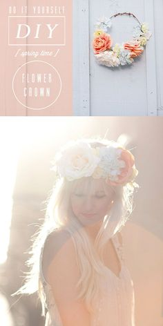 DIY floral crown - Kelli Murray and links to 6 other diy floral crowns