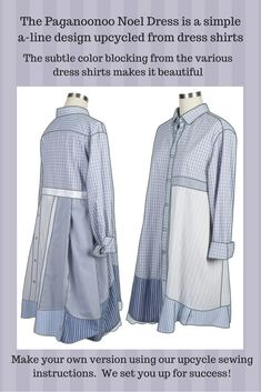 #Paganoonoo_Noel dress. Upcycle #sewing made simple.