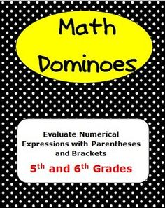 This game is a fun way for your 5th or 6th grade students to practice simplifying expressions which have parentheses and brackets.  $