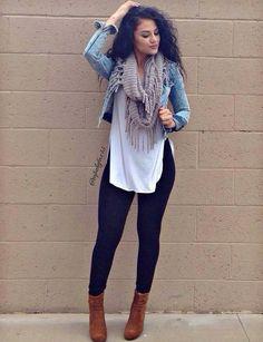 Outfits con Leggins – Moda y Estilo Outfit Jeans, Outfits Leggins, Leggings Outfit Winter, Cute Outfits With Leggings, How To Wear Leggings, Cute Leggings, Best Leggings For Winter, Black Jeans Outfit Casual, Curvy Outfits