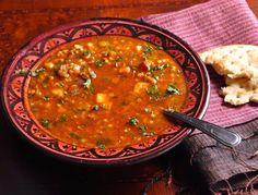 Moroccan Harira (spicy lentil) Soup — Smita Chandra.  Uses harissa paste as an ingredient.