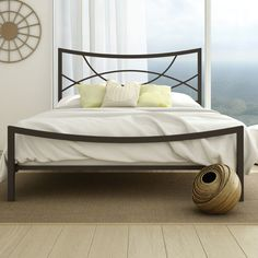$532 Amisco Equinox Metal Bed | AllModern