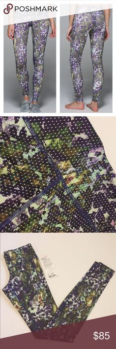 • Lululemon Athletica • NWT Lululemon Athletica Wunder Under pant. Purple and green floral print. Sweat wicking and 4-way stretch. Hidden pocket tucked into the waistband for key or card. Tight fit. Medium rise. Size 2.                                   ❌Trades  💯Authentic  ❌PayPal  💕Discounts on Bundles  ✅Offers Welcome  🙋Yes to Questions lululemon athletica Pants Leggings