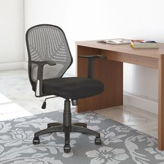 CorLiving™ LOF-209-O Office Chair - Black #SearsBack2Campus