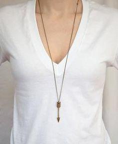 Fashion Jewelry -  Long Arrow  Pendant Necklace
