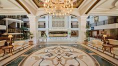 Hotel Aydinbey King Palace & Spa, Side, Antalya, Turcia Side Antalya, Palace, Marble, Spa, King, Flooring, Mansions, House Styles, Travel
