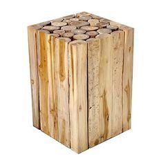 Beistelltisch Couchtisch Teakholz Teak Massiv Holz Block Hocker Blumenhocker Design Nachttisch Brillibrum Flyer
