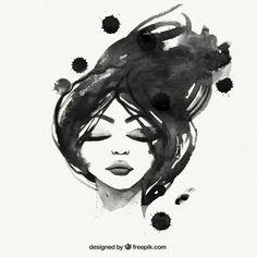 Mão mulher negra pintada