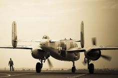 B-25 Mitchell on the preparation for the strike against Japanese, somewhere at the northern pacific