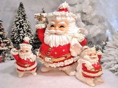This little Santa bank takes me back to my childhood!  CHRISTMAS NOSTALGIA vintage christmas antique ornaments  Pinned from Christmasnostalgia.com