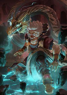 Howling Dragon - Lightning, Nico Lee Lazarus on ArtStation at https://www.artstation.com/artwork/howling-dragon-lightning