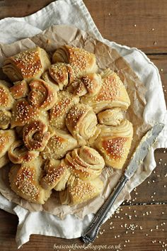 """Sunflower"" Bulgarian Bread from Bea's Cookbook. I don't bake bread nearly as much as I'd like to. This would make a beautiful centerpiece for brunch."