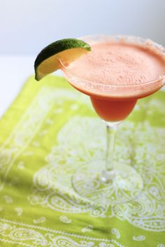 All Natural Watermelon Margaritas | North of Peachtree