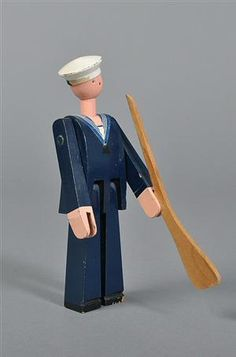 Lauritz.com - Toys and dolls - Kay Bojesen 1886-1958. Painted wood seaman, Niels Juel with rifle This lot has been put up for resale under the new lot no. 2076846 - DK, Odense, Kratholmvej