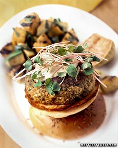 Vegetarian Burger - These immensely flavorful sweet potato, millet, and chickpea burgers are seasoned with coriander, cumin, and fennel. Martha Stewart Recipes