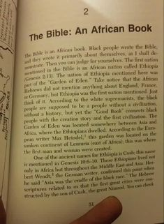 The Bible: An African Book