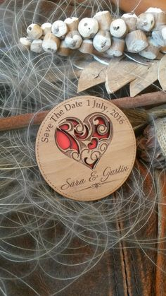 Wood Save-The-Date Magnets / Engraved Personalized Wooden magnets / Laser Cut Rustic Handmade Save the Date on Etsy, $1.79