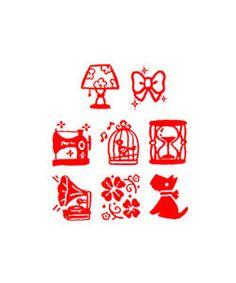 8 Kawaii Japanese Old Showa Era Modern Style Planner/ Scrapbook / Journal/ Schedule Decor Rubber Stamp Set. by niconecozakkaya on Etsy