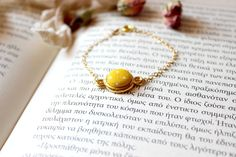 Yellow Dot Bracelet Polka Dot Bracelet Fabric by EfZinCreations Fabric Bracelets, Beaded Bracelets, Polka Dot, Dots, Creation Crafts, Button Bracelet, Layered Bracelets, Handmade Art, Handmade Gifts