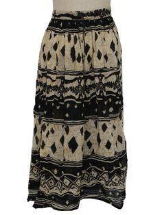 1990 skirts | Retro 1990's Hippie Skirt (Revue) : 90s -Revue- Womens cream, tan and ...