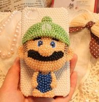 3d carton Super Mario Bros. beaded crystal rhinestone phone case cover for iphone 5,5s,5c