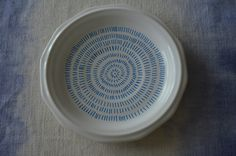 Hand-Painted Plate / Blue Dash Pattern / Jewelry or Trinket Tray / Decorative Organizer by 7thStreetHaven on Etsy