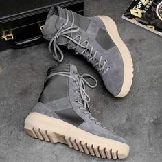 7b8fef4d03e Patchwork Military Boots. BKI BEN Collection. Mens Yeezy ...