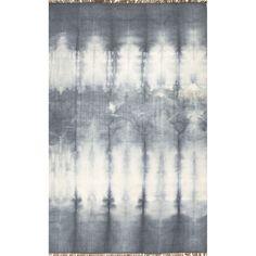 Flat Weave Grey/ Black Oriental Pattern Wool Area Rug (8' x 10')
