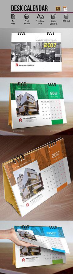 Desk Calendar  — EPS Template #monday #cover • Download ➝ https://graphicriver.net/item/desk-calendar/18091993?ref=pxcr