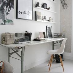 Stone study desk