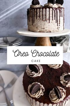 This recipe make a fluffy and moist chocolate cake. It is filled with whipped cream cheese and Oreos. It is topped with Oreo buttercream. This cookies n cream cake is easy to make and the perfect birthday cake. Yummy Snacks, Delicious Desserts, Yummy Food, Summer Dessert Recipes, Sweet Desserts, Best Chocolate, Chocolate Cake, Oreo Buttercream, Cookies And Cream Cake
