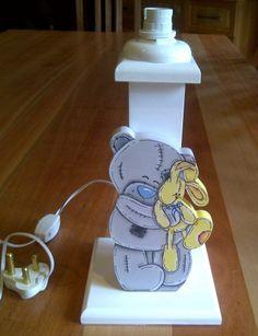Lamp base with polar bear