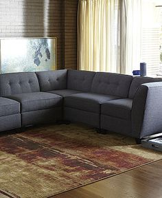 Harper Fabric Modular Living Room Furniture Collection with Sets & Pieces - furniture - Macy's