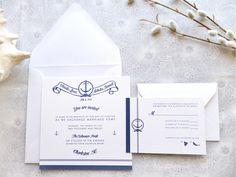 Southampton Nautical Wedding Invitations - Deposit. $20.00, via Etsy.