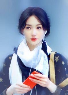 堆糖-美好生活研究所 Japanese Drawings, Realistic Drawings, Korean Art, Asian Art, Chinese Romance Novels, Beautiful Chinese Girl, Cute Girl Drawing, Digital Art Girl, True Art