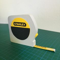 3D paper stanley measuring tape