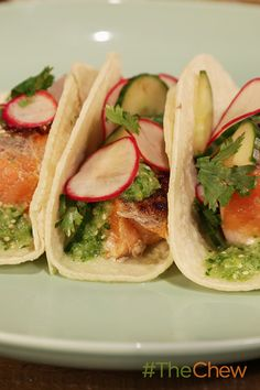 These Charred Salmon Tacos have a tasty twist to them! Taco 'bout delicious!