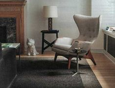 Adrian Pearsall wing chair - supposed to be REALLY comfortable Adrian Pearsall, Mcm Furniture, Wing Chair, New Crafts, Wingback Chair, Accent Chairs, Canning, This Or That Questions, Living Room