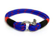 Bracelet avec manille/ Bracelet nautique / Sailor Bracelet / bracelet pour homme / bracelet corde / bracelet paracord