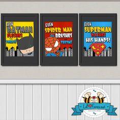 INSTANT DOWNLOAD - Superhero Chores Bathroom Art Prints -  8x10 Digital Art - Printable Art - Kids Art - Superhero Poster- Comics Pop art on Etsy, $15.72 CAD