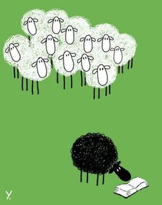I'm the black sheep who read :)) Bet that is a good book I Love Books, Books To Read, Sheep Art, World Of Books, I Love Reading, Book Nerd, Book Quotes, Library Quotes, Book Worms