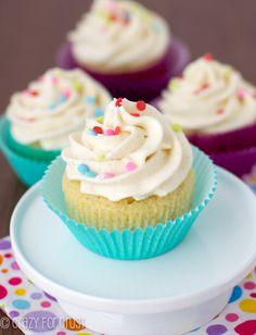 Perfect Vanilla Cupcakes - the best homemade ones I've ever had, and super vanilla-y! | crazyforcrust.com | #cupcake
