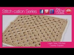How to Crochet Granny Square: Stitch-cation Series ..This is a different way to do a granny square. It makes a neat design.