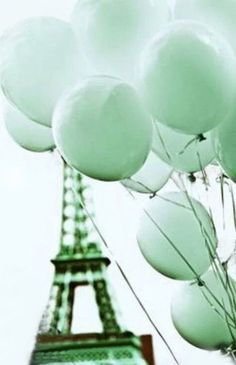 Paris in mint Mint Green Aesthetic, Rainbow Aesthetic, Aesthetic Colors, Aesthetic Collage, Mint Color, Green Colors, Colours, Pastel Colors, Wallpaper Tumblrs