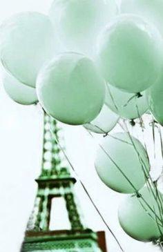 Paris in mint Mint Green Aesthetic, Rainbow Aesthetic, Aesthetic Colors, Aesthetic Collage, Photo Wall Collage, Picture Wall, Wallpaper Tumblrs, Mint Wallpaper, Pastel Mint