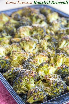 Lemon Parmesan Roasted Broccoli- Lemon Parmesan Roasted Broccoli – a healthy and simple side dish with tons of flavor. A family favorite recipe that even gets the picky eaters to eat their veggies. Low Carb Side Dishes, Side Dishes Easy, Vegetable Side Dishes, Side Dish Recipes, Vegetable Recipes, Vegetarian Recipes, Cooking Recipes, Healthy Recipes, Keto Recipes