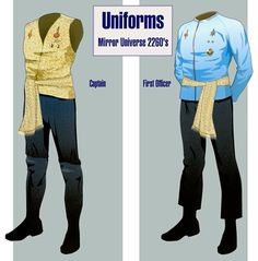 Starfleet Uniforms (Mirror Universe) - 2260s